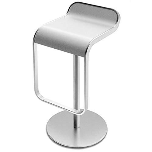 LA PALMA Lem 80 Fix Bar Kruk Frame Chroom Mat lacquered seat Wit Hout