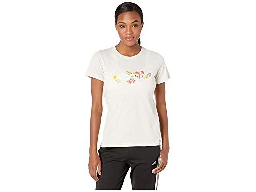 adidas Women's Floral T-Shirt Raw White X-Small