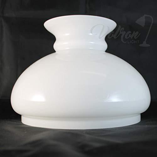 Petroleumschirm Vestaschirm Ø175mm Bauch 205mm Opal Ersatzglas Leuchtenschirm Lampenglas weiß glänzend