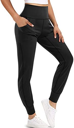 LEINIDINA Women s Jogger Pants Active High Waisted Sweatpants with Pockets Tapered Casual Lounge product image