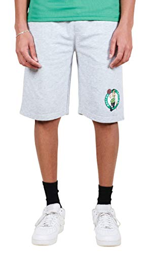 Ultra Game NBA Boston Celtics Mens French Terry Shorts, Heather Gray, Large