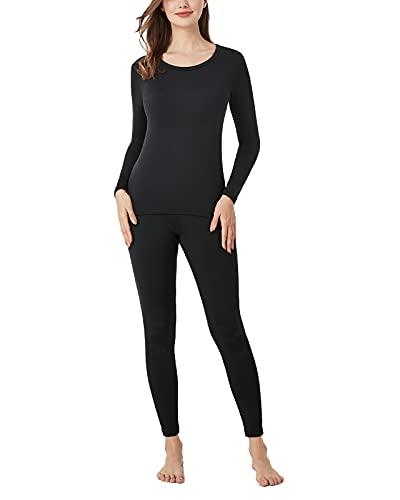 LAPASA Set de Ropa Térmica para Mujer Conjunto Térmico Ligero/Mid-Weight/Espeso Cuello...
