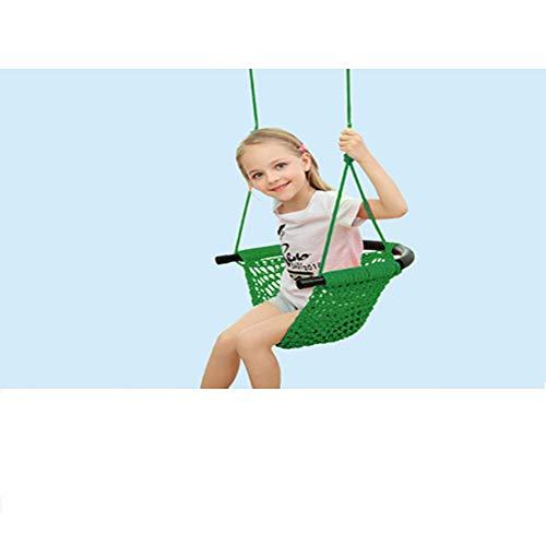 ZJJ El Columpio Infantil 150KG Interior, Exterior Bebé Columpios, Colgantes Góndola, Swing Kids Asiento, Silla Colgante Plegable, Dormitorios, Dormitorio, Público, Jardín, Terraza,Verde