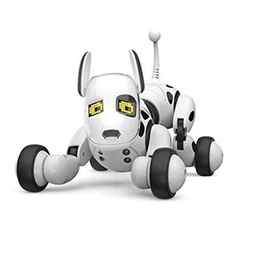 JIN GUI Perro Robot Inteligente con Control Remoto, Perro de Juguete Inteligente inalámbrico programable para niños, Perro Robot electrónico Que Habla, Puede controlar Flexiones invertidas de Juguete