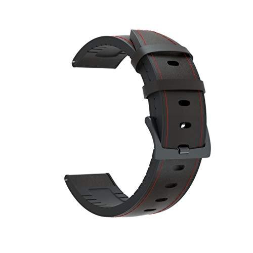 Correa de cuero + pulsera de silicona para Xiaomi Amazfit GTR 42 47mm reloj GT2 46mm correa de reloj para Huami Amazfit GTS correa de repuesto