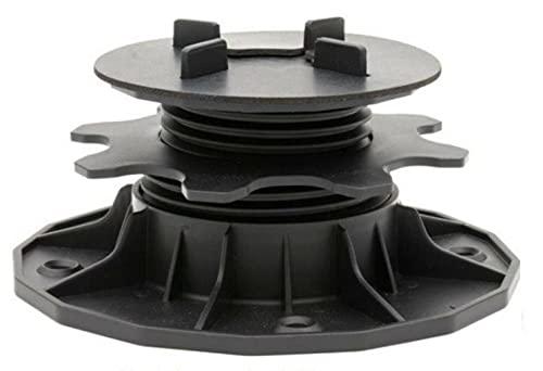 DeToWood Plattenlager für Terrassenplatten | Stelzlager | Unterkonstruktion | Stellfüße höhenverstellbar (35-70 mm)
