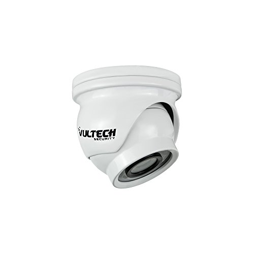 VulTech Security CM-DMM960AHD-B Telecamera Mini, Dome, AHD, 1/4', 1.3 mpx, 960 p, 2.8 mm, LED IR, 12 Pezzi, 10 m, Bianco