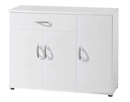 AVANTI TRENDSTORE - Lilo - Comò e mobili con Ante, in Stile Moderno in Legno Laminato, Disponibile in 2 Diversi Colori e Diverse Misure (90x70x30 cm, Bianco)