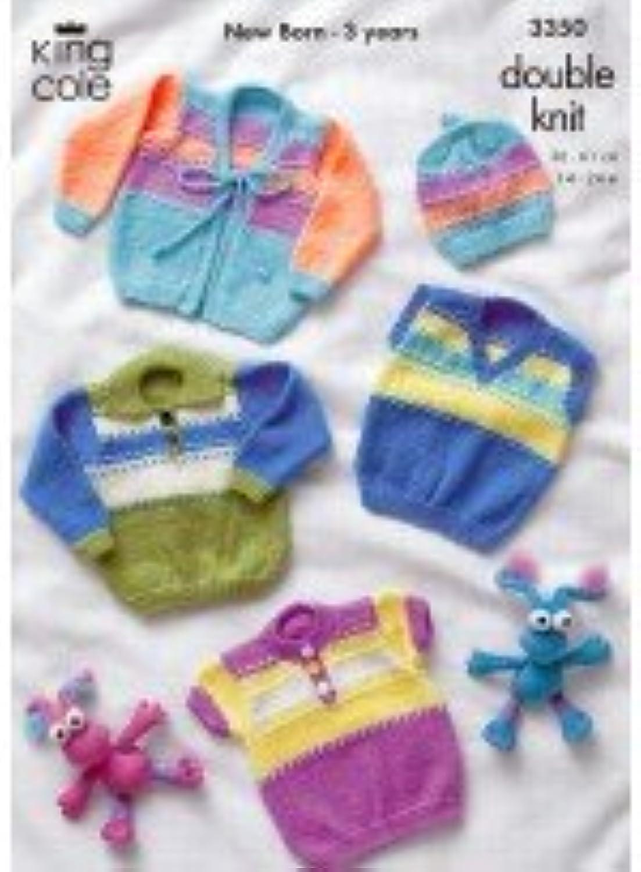 Patterns - KC3350 - Sweaters and Cardigan King Cole Knitting Pattern 3350 B00HGEPBMU | Bekannt für seine hervorragende Qualität