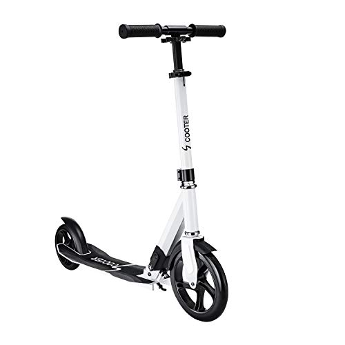 Kick Scooters Adult Featuring Quick-Release Folding System Foldable Kick Scooter with Shoulder Strap 230mm Big Wheels Aluminum Alloy Commuter Scooter Multiple Colors Available