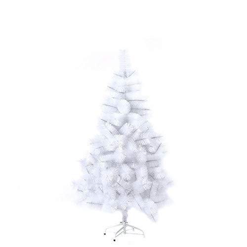 SAILUN® 150cm Weiße Kiefernnadeln künstlicher Weihnachtsbaum Christbaum Tannenbaum Weiße Kiefernnadeln mit Metallständer, Schneller Montage und Faltung (150cm)