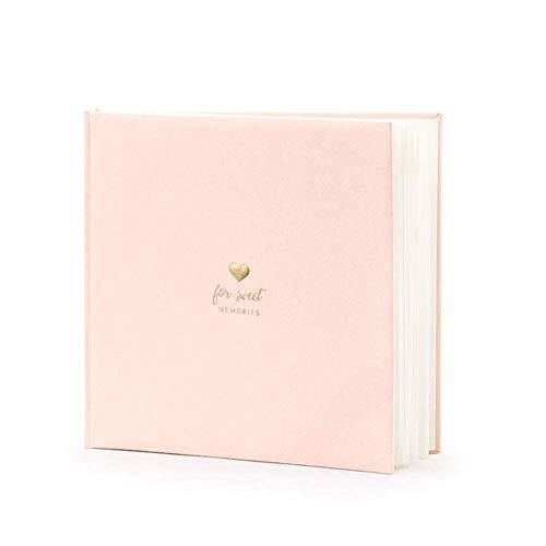 Gastenboek Sweet Memories in rosé-roze met gouden opschrift – gastenboek bruiloft bruiloft accessoire fotoalbum verloving verjaardag baby-party meisje