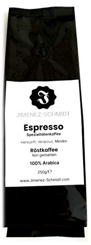 Espresso fein gemahlen   Spezialitätenkaffee aus Mexiko   Coffee espresso   speciality espresso   100% Arabica   säurearm   schonend geröstet   hochwertiger Kaffee   Bio Anbau   250g Packung