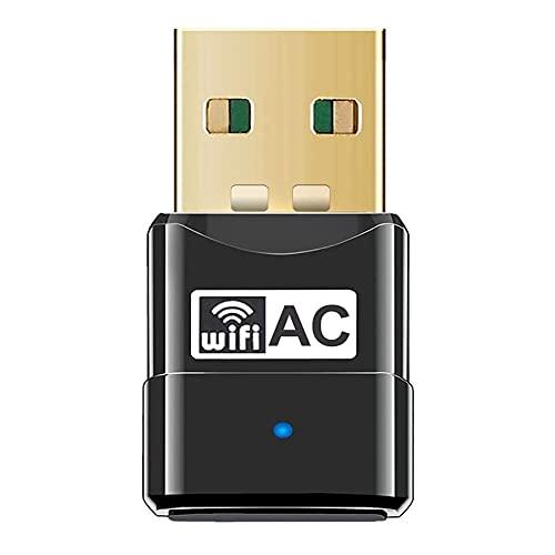 Adaptador USB WiFi Bluetooth, WiFi Antena 600Mbps Doble Banda 2.4G/5.8G Bluetooth 4.2 Wireless WiFi Dongle Receptor Externo Mini Dongle Tarjeta de Red para PC Laptop Desktop Win10/8/8.1/7