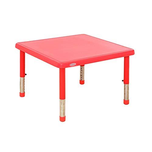 ZHAOHUI-Ensembles Table et Chaise pour Enfants Plastique Table d'enfant Chaises Pieds De Table en Métal Jeu en Train De Lire Jardin d'enfants Ménage Poids Léger, 6 Couleurs (Color : Red)