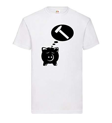 Spaarvarken droomt van Hammer mannen T-shirt - shirt84.de