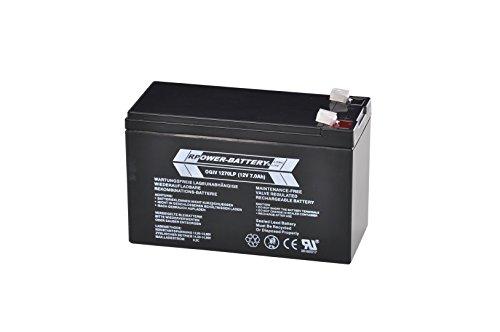 12V 7Ah RPower AGM Batterie / Bleiakku USV Akku Notstrom Notlicht Bleibatterie