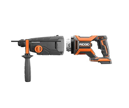 Ridgid 18-Volt OCTANE MEGAMax Brushless Power Base with 1-1/8 in. SDS-Plus Rotary Hammer Attachment, (No-Retail Packaging, Bulk Packaged)
