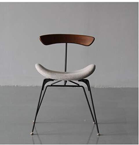 YUJINMAOYI Industrie Stil Esszimmerstuhl Designer Licht Retro-LOFT Schmiedeeisen Stuhl Ameise Stuhl einfach Massivholzstuhl,6