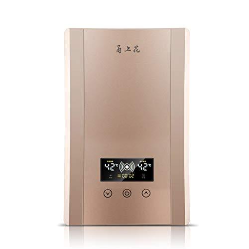 LYHY Calentador de Agua Caliente de Temperatura Constante de baño instantáneo electrónico de 8KW con Pantalla LCD (Color: Plateado)