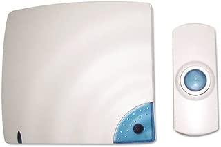 Tatco 57910 Wireless Doorbell, Battery Operated, 1-3/8w X 3/4d X 3-1/2h, Bone