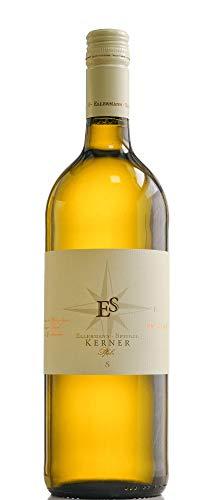 Kerner feinherb 1,0 l 2019 - Ellermann-Spiegel   halbtrockener Weißwein   deutscher Sommerwein aus der Pfalz   1 x 1,00 Liter