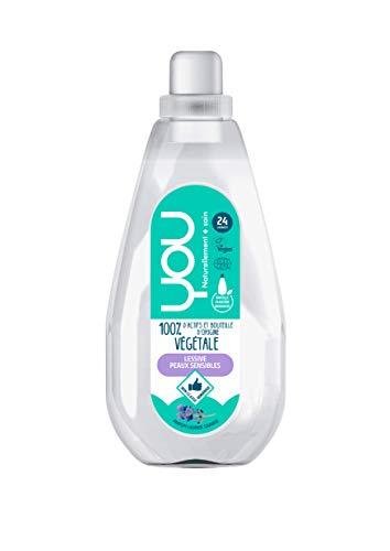 YOU - Lessive Liquide Ecologique 100% d'Actifs d'Origine Végétale - Parfum Lavande Sauvage - 24 Lavages