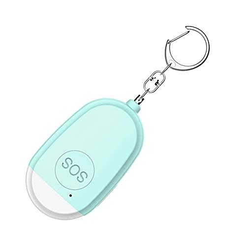 防犯ブザー 防犯アラーム LEDライト付き USB充電式 高齢者向け ベルアラーム 自己防衛 懐中電灯 女の子 大人 130dB 子供 個人保護 大音量 防犯警報器 Blue