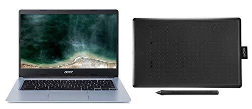 Acer Chromebook 314 - Portátil 14' FullHD (Intel Celeron N4020, 4GB RAM, 64GB eMMc) Color Plata + Wacom One - Tableta gráfica con lápiz Digital Sensible a la presión