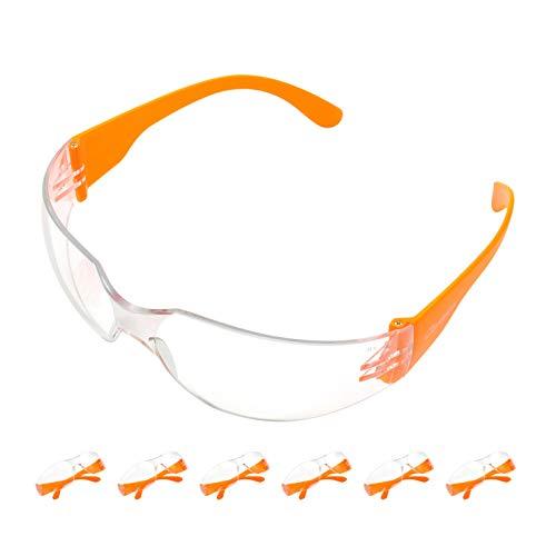 Safeyear - Gafas de seguridad antivaho (calidad certificada EN166) -SG001, 12 unidades de gafas protectoras