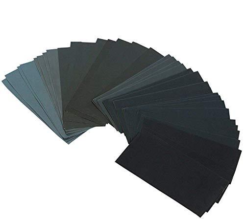 Preisvergleich Produktbild Cymax 42 Stück Schleifpapier Set Schleifpapier Sortiment Trocken / Nass Sandpapier Blätter,  9 x 3, 6 Zoll,  Körnung 120 to 3000,  für Automobil Schleifen, Holzmöbellackierung, Veredelung, Holzverarbeitung