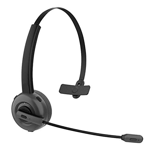 Trucker Bluetooth-Headset, Freisprecheinrichtung, kabellos, Kopfhörer mit Mikrofon mit Geräuschunterdrückung, Büro-Bluetooth-Headset, On-Ear-Bluetooth 5.0-Kopfhörer für Handys, PC, Laptop, Home Office