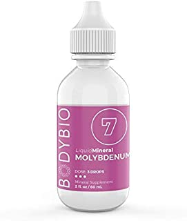 BodyBio - Liquid Molybdenum for Metabolism Support & Liver Detox - High Absorption, Pure, Concentrated Molybdenum Suppleme...