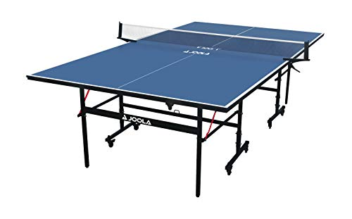 JOOLA Inside - Professional MDF Indoor Table Tennis Table with Quick Clamp Ping Pong Net and Post Set - 10 Minute Easy Assembly - USATT Approved - Ping Pong Table with Single Player Playback Mode