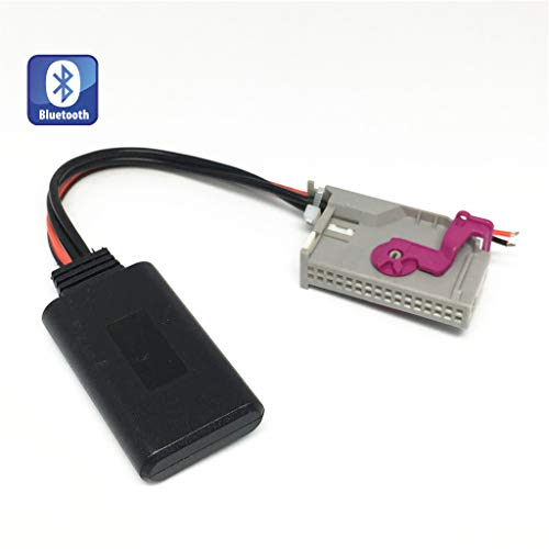 Shine Auto Bluetooth Adapter für Audi A3 A4 A6 A8 TT R8 mit RNS-E Navigation, 32 Pin Wireless Auto CD Stereo AUX Musik Interface für A3 A4 A6 TT R8 A8 Lamborghini Gallardo