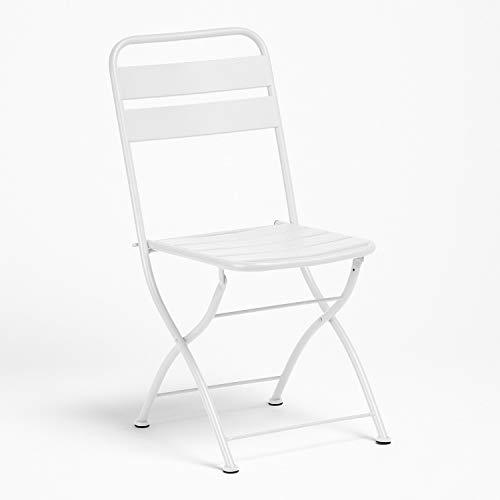SKLUM Silla Plegable de Exterior Janti Acero Blanco - (Elige Color)
