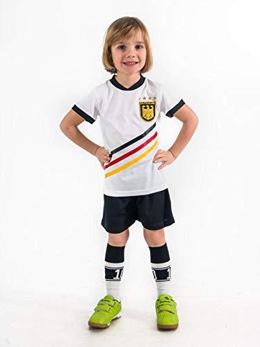 Fußball Trikotset Trikot Kinder 4 Sterne Deutschland WUNSCHNAME Nummer Geschenk Größe 98-176 T-Shirt Weltmeister 2014 Fanartikel EM 2016