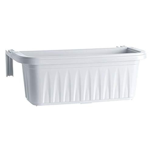 PEBSHOP BALCONETTA Rettangolare in plastica (CM 50X20XH.18,5 - LT.11 Bianco)