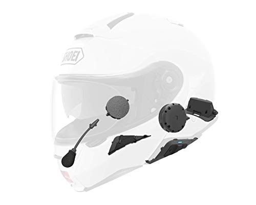 Position of intercom elements in a helmet