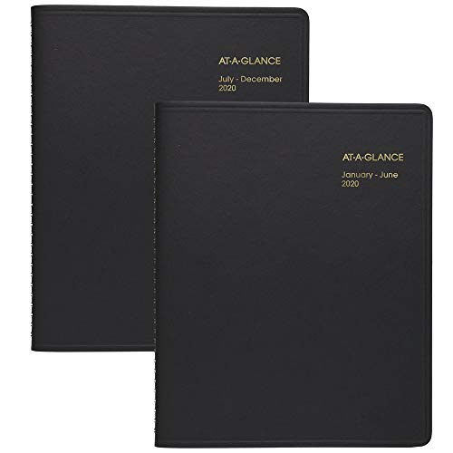 """AT-A-GLANCE 2020 Daily Appointment Book, 8-1/2"""" x 11"""", Large, Eight Person Group Planner, 2 Books (7021280)"""