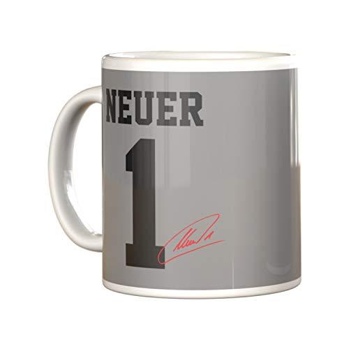 München Tasse Manuel Neuer, Kaffeetasse FCB - Plus Lesezeichen I Love München