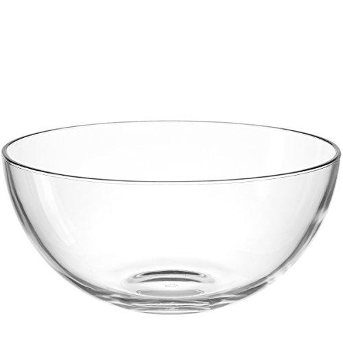 Leonardo Cucina Glas-Schale, runde Schale aus Glas, spülmaschinengeeignete Salat-Schüssel, Ø 295 mm, 066329