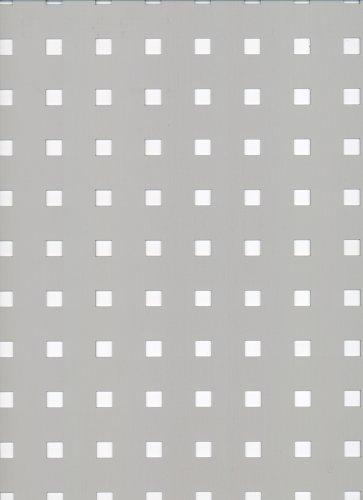 GAH-ALBERTS 467173 - Chapa perforada - perforación Square, de aluminio, anodizado color plata, 300 X 1000 X 0.8 Mm