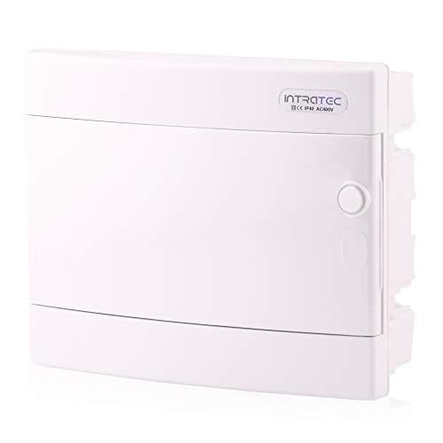 Sicherungskasten Unterputz IP40 Verteiler Gehäuse 1-reihig bis 12 Module Weiße Tür für die Trockenraum Installation im Haus