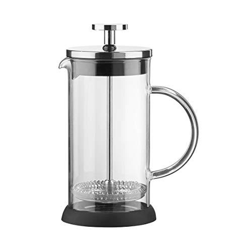 BUTLERS Black Beauty Kaffeepresse für 8 Tassen - French Press Borosilikatglas - Kaffeedrücker, Kolbenkanne, Kaffeekanne