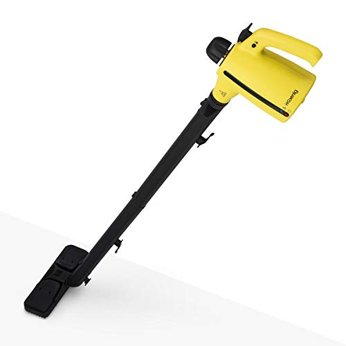 H.Koenig Dampfreiniger NV700 / 3,5 bar / verschiedene Aufsätze / 350 ml Wassertank / Sicherheitssystem / 1050 W / gelb