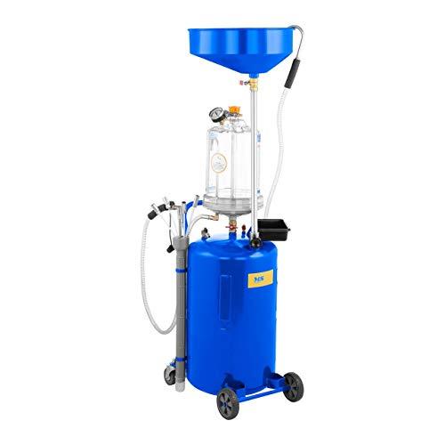MSW Aspirador De Aceite Con Tanque De 75 L MSW-OBG80D (Temperatura Del Aceite Entre 40 y 60 °C, 9 Bar, Ruedas Delanteras Móviles En PVC)
