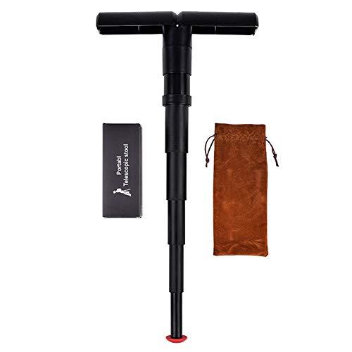 Jipai Mini Tragbarer Teleskopischer Sitzhocker Stock-Stuhl Sitzstock Wanderstock, Portable, Verstellbar, Für Camping, Wandern, Angeln, Outdoor-Aktivitäten