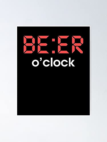 AZSTEEL Beer O'clock Poster Best Gift for Mothers Day