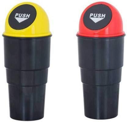 Wib Car Mini Glass Size Garbage Can Trash Dust Bin Plastic Dustbin